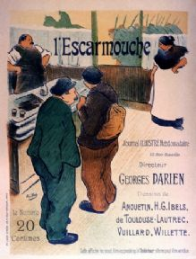 Vintage L'Escarmouche, French Restaurant Advertisement